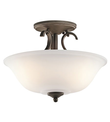 Kichler Lighting Sherbrooke 3 Light Semi-Flush in Olde Bronze 42678OZ