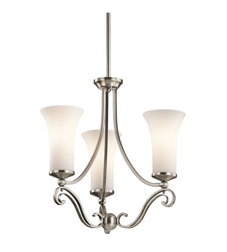 Kichler Lighting Wickham 3 Light Chandelier in Classic Pewter 42700CLP
