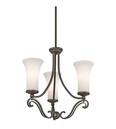 Kichler Lighting Wickham 3 Light Chandelier in Olde Bronze 42700OZ