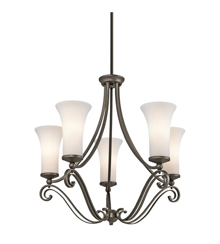 Kichler Lighting Wickham 5 Light Chandelier in Olde Bronze 42701OZ photo