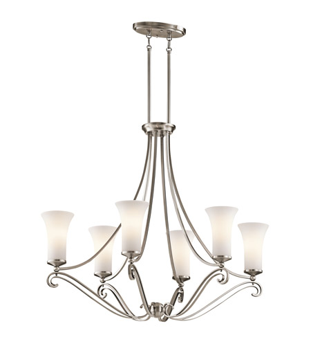 Kichler Lighting Wickham 6 Light Chandelier in Classic Pewter 42702CLP photo