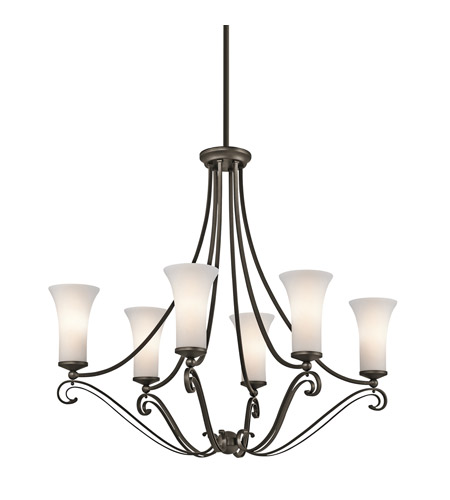 Kichler Lighting Wickham 6 Light Chandelier in Olde Bronze 42702OZ photo