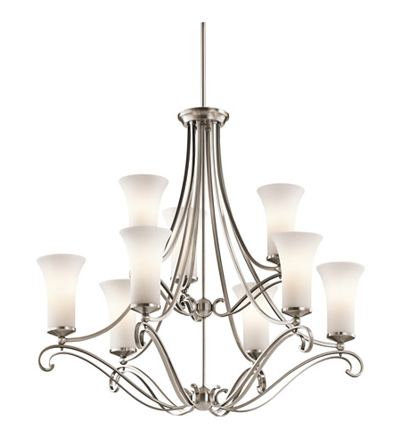 Kichler Lighting Wickham 9 Light Chandelier in Classic Pewter 42704CLP