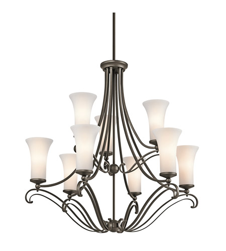 Kichler Lighting Wickham 9 Light Chandelier in Olde Bronze 42704OZ photo