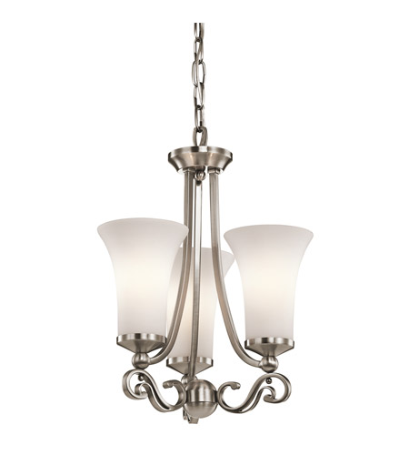 Kichler Lighting Wickham 3 Light Chandelier in Classic Pewter 42705CLP photo