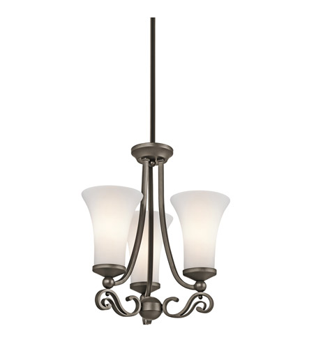 Kichler Lighting Wickham 3 Light Mini Chandelier in Olde Bronze 42705OZ photo