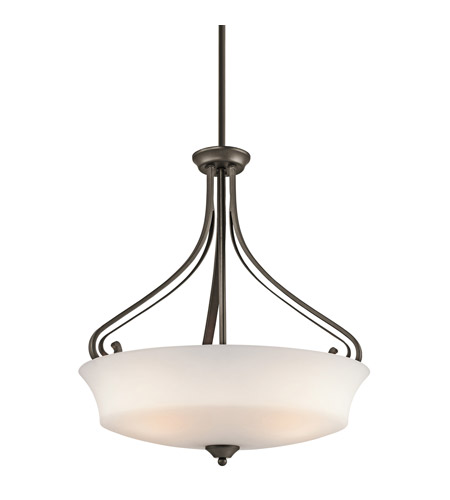 Kichler Lighting Wickham 3 Light Inverted Pendant in Olde Bronze 42706OZ photo