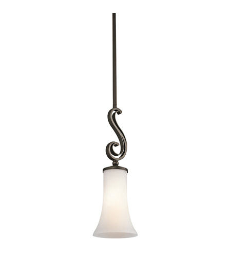 Kichler Lighting Wickham 1 Light Mini Pendant in Olde Bronze 42707OZ