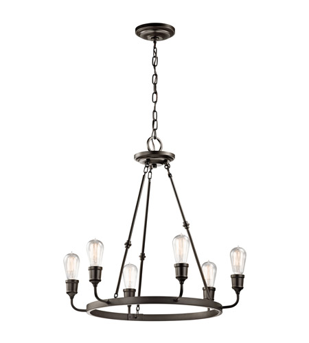 Kichler 42708OZ Lucien 6 Light 25 inch Olde Bronze Chandelier 1 Tier Medium Ceiling Light photo