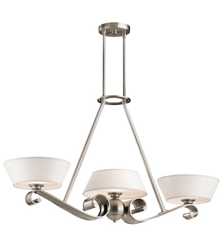 Kichler Lighting Livingston 3 Light Chandelier in Classic Pewter 42712CLP photo