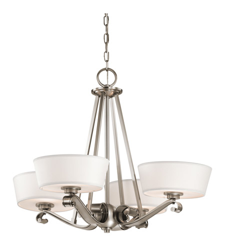 Kichler Lighting Livingston 4 Light Chandelier in Classic Pewter 42713CLP