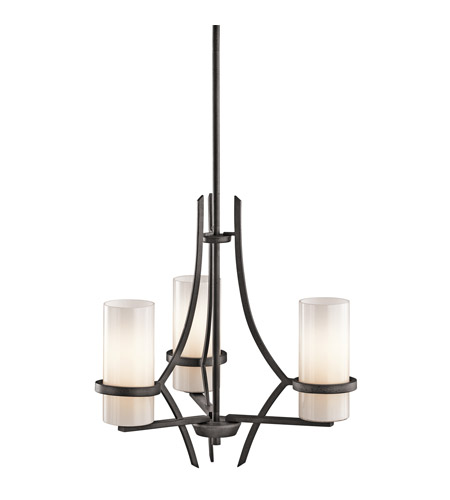 Kichler Lighting Beckett 3 Light Chandelier in Anvil Iron 42719AVI