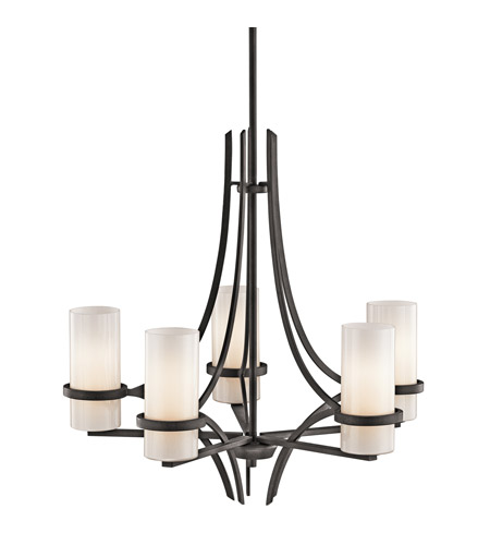 Kichler Lighting Beckett 5 Light Chandelier in Anvil Iron 42720AVI photo