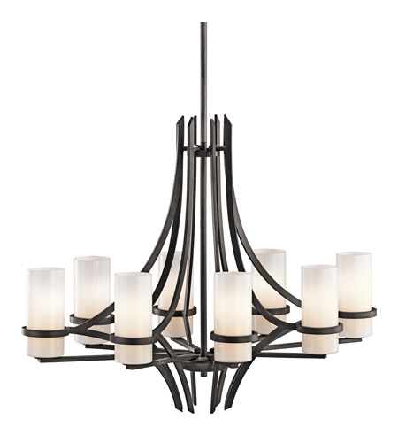 Kichler Lighting Beckett 8 Light Chandelier in Anvil Iron 42721AVI