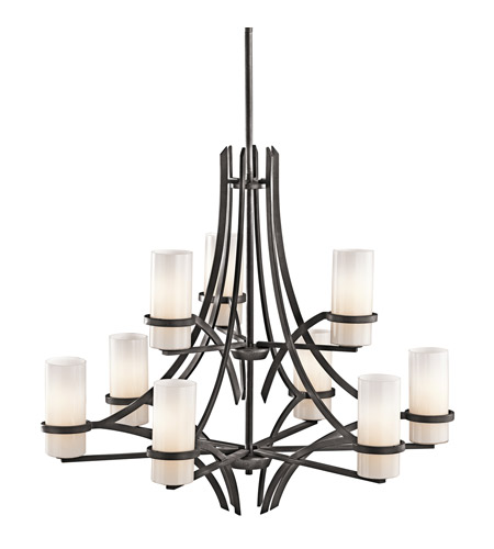 Kichler Lighting Beckett 9 Light Chandelier in Anvil Iron 42722AVI
