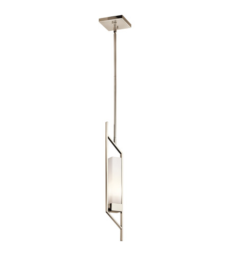 Kichler Savina 1 Light Mini Pendant in Polished Nickel 42746PN photo