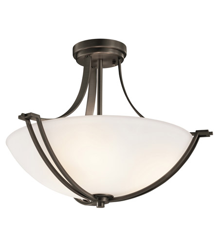 Kichler Lighting Chatham 3 Light Semi-Flush in Olde Bronze 42766OZ photo