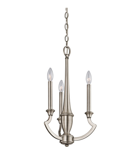 Kichler Lighting Semprini 3 Light Mini Chandelier in Antique Pewter 42769AP photo