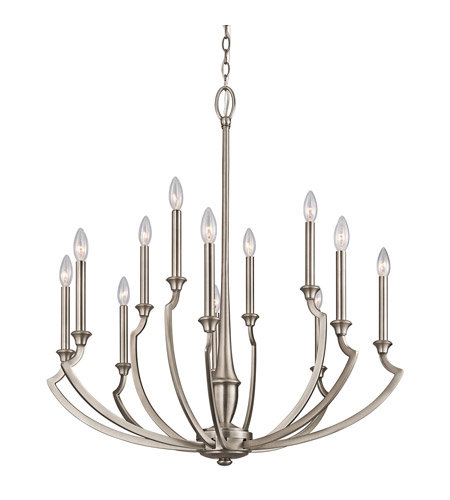 Kichler Lighting Semprini 12 Light Chandelier in Antique Pewter 42773AP photo
