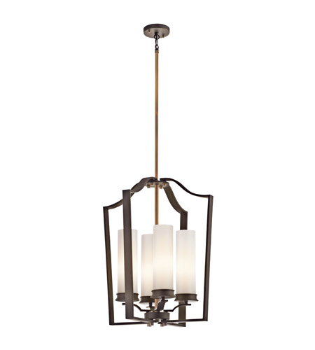 Kichler Lighting Aren 4 Light Foyer Chain Hung in Olde Bronze 42778OZ photo