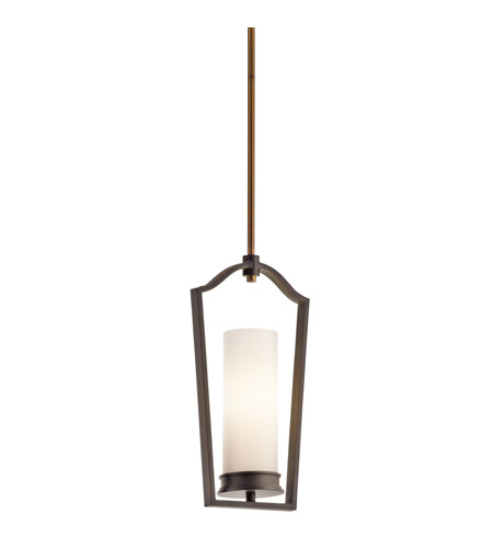 Kichler Lighting Aren 1 Light Mini Pendant in Olde Bronze 42779OZ