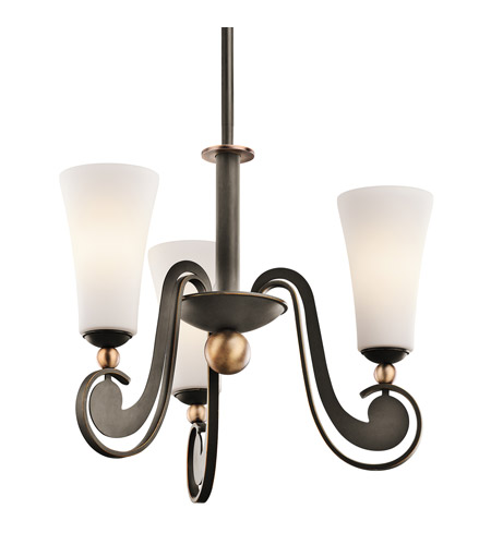 Kichler Lighting Clermont 3 Light Chandelier in Olde Bronze 42784OZ photo