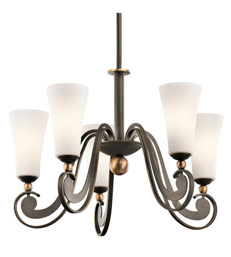 Kichler Lighting Clermont 5 Light Chandelier in Olde Bronze 42785OZ