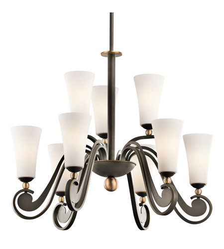 Kichler Lighting Clermont 9 Light Chandelier in Olde Bronze 42787OZ photo