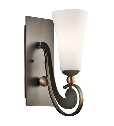 Kichler Lighting Clermont 1 Light Wall Sconce in Olde Bronze 42789OZ photo