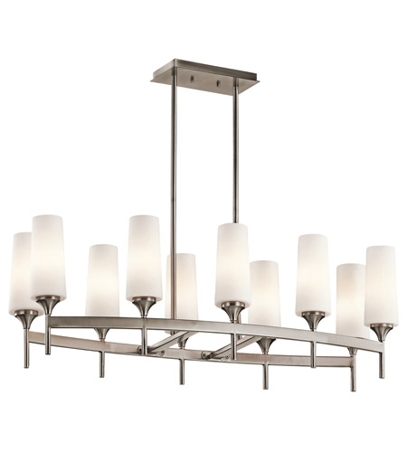 Kichler Lighting Kinsley 10 Light Chandelier in Classic Pewter 42807CLP