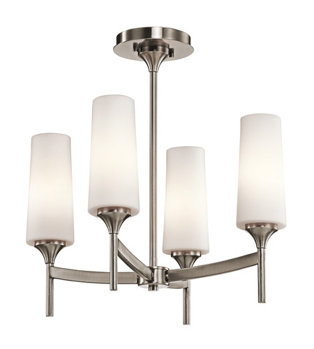 Kichler Lighting Kinsley 4 Light Semi-Flush in Classic Pewter 42809CLP photo