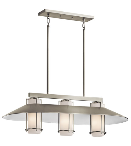 Kichler Lighting Tavistock 3 Light Island Light in Brushed Nickel 42811NI