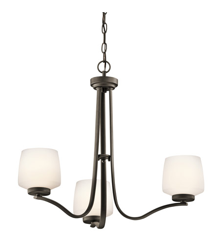 Kichler Lighting Truett 3 Light Chandelier in Olde Bronze 42829OZ