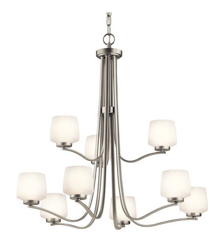 Kichler Lighting Truett 9 Light Chandelier in Brushed Nickel 42832NI photo