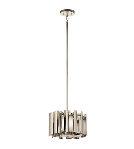 Kichler Lighting Ziva 1 Light Pendant in Polished Nickel 42834PN