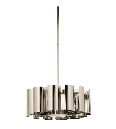Kichler Lighting Ziva 1 Light Pendant in Polished Nickel 42835PN photo