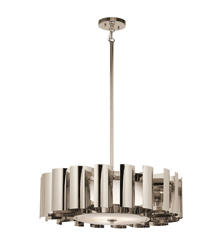 Kichler Lighting Ziva 3 Light Pendant in Polished Nickel 42836PN photo