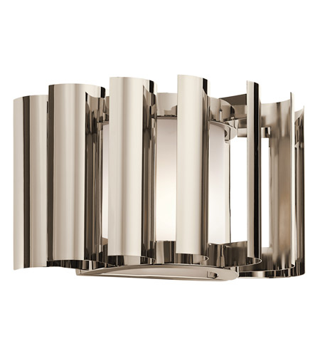 Kichler Lighting Ziva 1 Light Wall Sconce in Polished Nickel 42837PN photo
