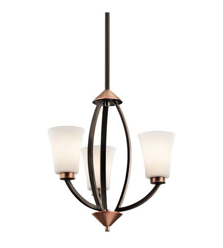 Kichler Lighting Edgecomb 3 Light Mini Chandelier in Olde Bronze 42838OZ photo