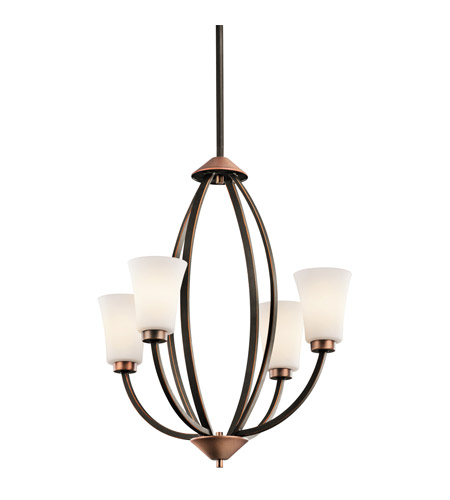 Kichler Lighting Edgecomb 4 Light Chandelier in Olde Bronze 42839OZ