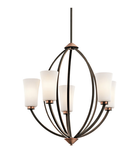 Kichler Lighting Edgecomb 5 Light Chandelier in Olde Bronze 42840OZ photo