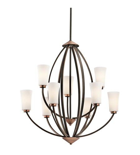 Kichler Lighting Edgecomb 9 Light Chandelier in Olde Bronze 42841OZ photo