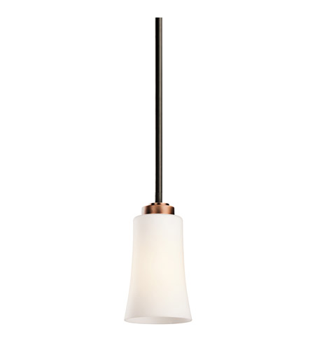Kichler Lighting Edgecomb 1 Light Mini Pendant in Olde Bronze 42843OZ