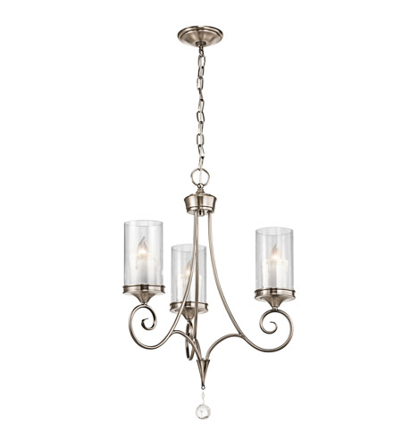 Kichler 42860CLP Lara 3 Light 20 inch Classic Pewter Chandelier Ceiling Light photo