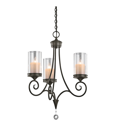 Kichler 42860SWZ Lara 3 Light 20 inch Shadow Bronze Chandelier Ceiling Light photo