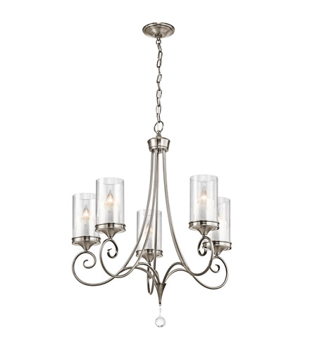 Kichler 42861CLP Lara 5 Light 27 inch Classic Pewter Chandelier Ceiling Light photo