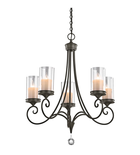 Kichler Lighting Lara 5 Light Chandelier in Shadow Bronze 42861SWZ
