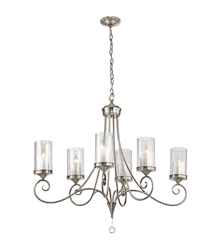 Kichler 42862CLP Lara 6 Light 18 inch Classic Pewter Chandelier Ceiling Light photo