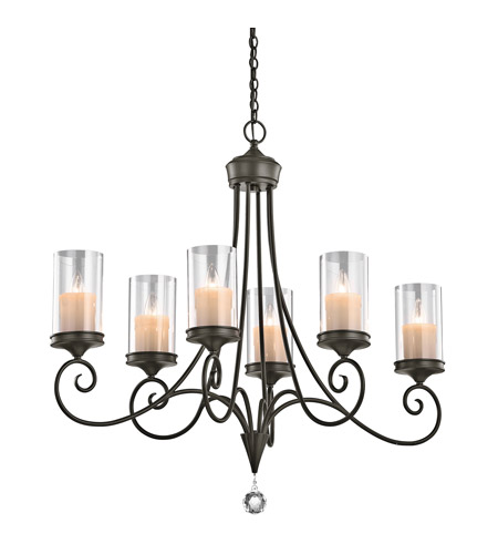 Kichler 42862SWZ Lara 6 Light 18 inch Shadow Bronze Chandelier Ceiling Light photo
