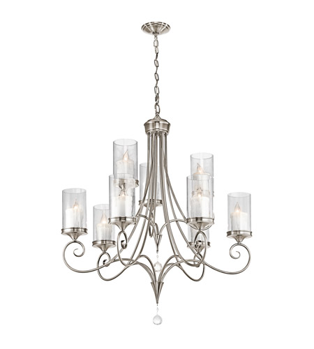 Kichler Lighting Lara 9 Light Chandelier in Classic Pewter 42863CLP